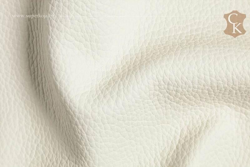 Кожа за тапицерия - шагрен - Бял 1