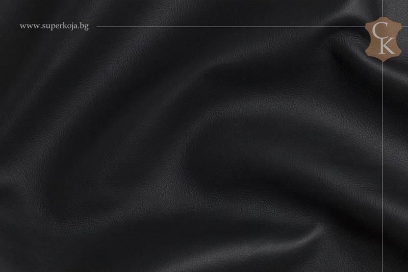 Кожа за тапицерия -гладка - Черен 1