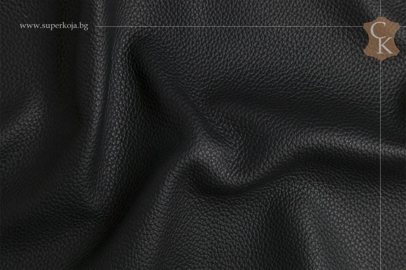 Кожа за тапицерия - шагрен - черен