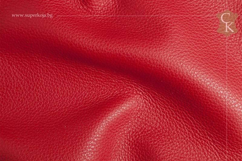 Кожа за тапицерия - шагрен - червен