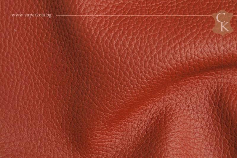 Кожа за тапицерия - шагрен - Оранжев - 10