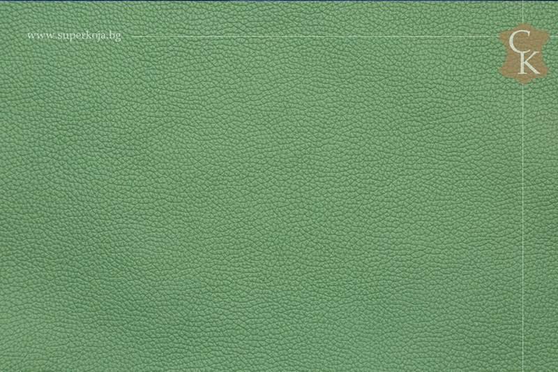 Кожа за тапицерия - шагрен - светло  зелен - 11