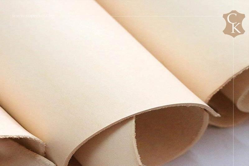 Растително дъбена натурална кожа бланк - 11