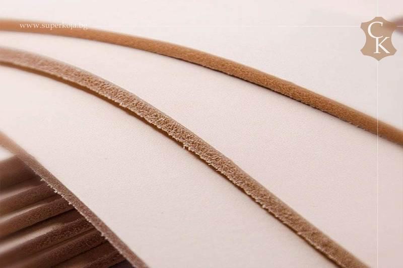 Растително дъбена натурална кожа бланк за колани