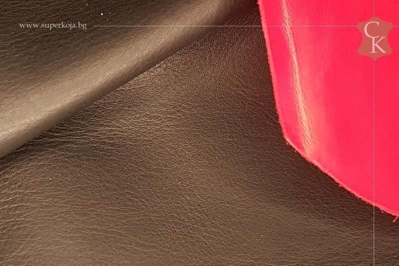 Телешка кожа за обувки черна лицева - 10
