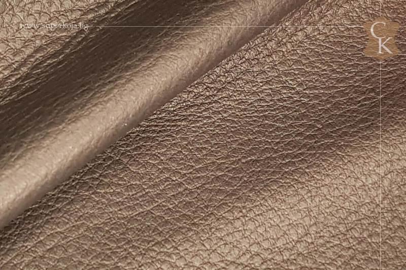 Телешка кожа за обувки черен шагрен - 11