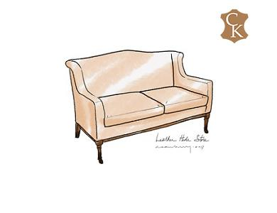 Track Arm French Loveseat 60
