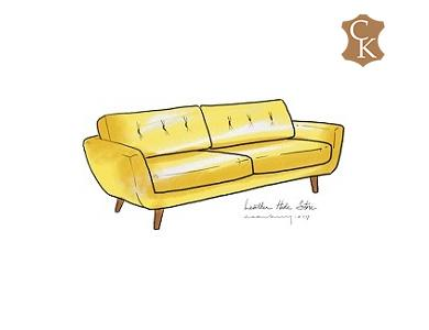 Tufted Back Anson Sofa 78