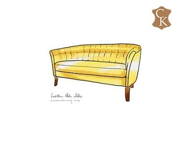 Tufted Curved Back Loveseat 62