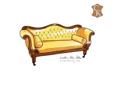 Tufted Empire Sofa 80