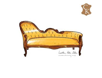 Tufted Fainting Couch 77