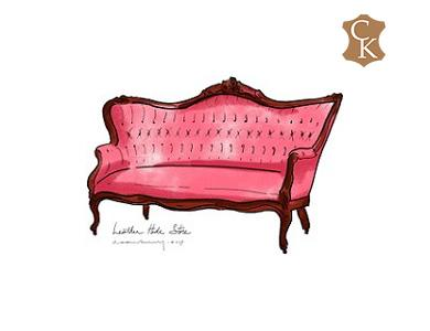 Tufted French Victorian Canape Sofa 64