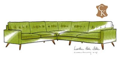 Tufted Mid Century Modern Sectional