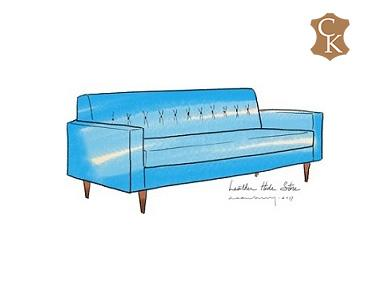 Tufted Mid Century Modern Sofa 88